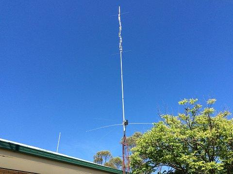 Armidale Amp District Amateur Radio Club Cushcraft R7 Vertical
